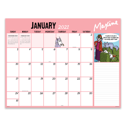"TF Publishing Monthly Desk Pad Calendar, 22"" x 17"", Maxine, January To December 2021"