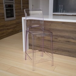 Flash Furniture Ghost Counter Stool, Clear