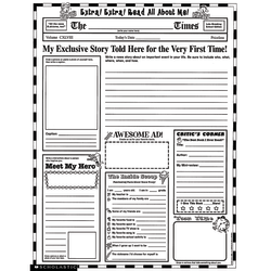"""Scholastic Extra, Extra, Read All About Me Instant Personal Poster Sets, 17"""" x 22"""", Pack Of 30 Sets"""