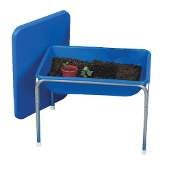 """Children's Factory Small Sensory Table And Lid Set, Blue/White, 29""""H x 21""""Wx 6 1/2""""D"""