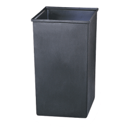 Safco® Solid Plastic Trash Can Liner, 36 Gallons