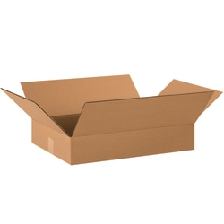 """Office Depot® Brand Corrugated Boxes, Flat, 3""""H x 14""""W x 20""""D, Kraft, Pack Of 25"""