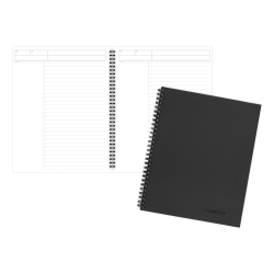 """Cambridge® Limited® 30% Recycled Business Notebook, 8 1/4"""" x 11"""", 1 Subject, Wide Ruled, 80 Sheets, Black (06064)"""
