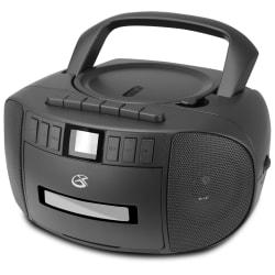 "GPX BCA209 CD Boombox With AM/FM Radio, 4.88""H x 8.87""W x 9.53""D, Black"