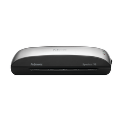 """Fellowes® Spectra™ 95 Laminator With Starter Kit, 9 1/2"""" Entry Width, 3""""H x 14 1/2""""W x 7""""D, Silver/Black"""