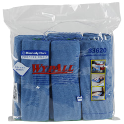 Wypall® Microfiber Cloths, Blue, Pack Of 6