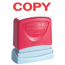 Accu-Stamp Pre-Inked Message Stamp, Copy, Red (AbilityOne 7520-01-207-4108)