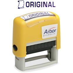 Accu-Stamp Pre-Inked Message Stamp, Original, Blue (AbilityOne 7520-01-207-4222)