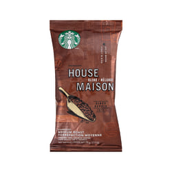 Starbucks® House Blend Ground Coffee Single-Serve Packets, 2.5 Oz, Carton Of 18