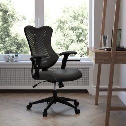 Flash Furniture Designer Mesh/LeatherSoft™ High-Back Chair, Black