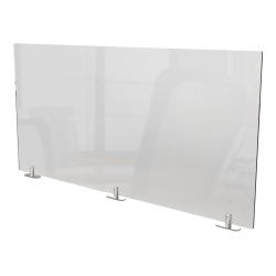"""Ghent Partition Extender, With Tape, 24""""H x 48""""W x 1-1/2, Clear"""