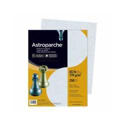 """Astroparche® Specialty Cover Stock, 8 1/2"""" x 11"""", 65 Lb, 30% Recycled, Astroparche Blue, Pack Of 250 Sheets"""