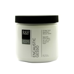 R & F Handmade Paints Encaustic Gesso, 16 Oz, White
