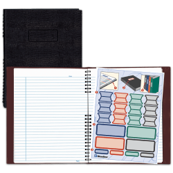 """Blueline® NotePro™ 50% Recycled Notebook, 8 1/2"""" x 11"""", College Ruled, 100 Sheets, Lizard-Like Red"""