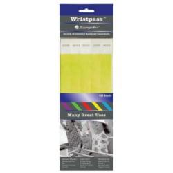 Baumgartens® Wrist Passes, Yellow, Pack Of 100