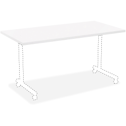 "Lorell® Rectangular Invent Training Table Top, 72""W, White"