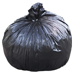 "Stout Total 1.5 mil Trash Bags, 65 gal, 50""H x 51""W, 100% Recycled, Brown, 100 Bags"
