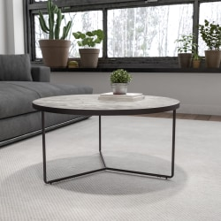"Flash Furniture Round Coffee Table, 15-1/2""H x 31-1/2""W x 31-1/2""D, Concrete"