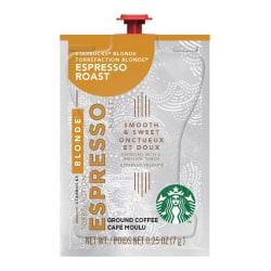 Starbucks Blonde Espresso Single-Serve Coffee Freshpacks, 0.25 Oz, Pack Of 72 Freshpacks