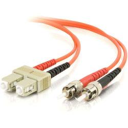 C2G-15m SC-ST 50/125 OM2 Duplex Multimode PVC Fiber Optic Cable - Orange