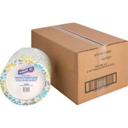 "Genuine Joe Printed Paper Plates - 125 / Pack - 7"" Diameter Plate - Paper Plate - Disposable - Assorted - 500 Piece(s) / Carton"
