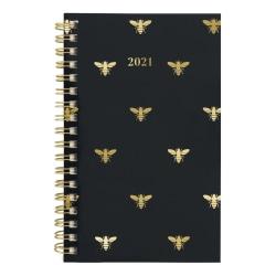 """Cambridge® Weekly/Monthly Planner, 3-1/2"""" x 6"""", Queen Bee, January To December 2021, 1462-300"""