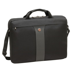 "Wenger® Legacy 17"" Double Slimcase With Notebook Sleeve, Black"