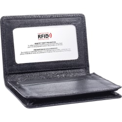 """Swiss Mobility Carrying Case Business Card, License - Black - Leather - 0.8"""" Height x 3"""" Width x 4"""" Depth"""