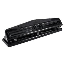 Office Depot® Brand 3-Hole Adjustable Punch, Black
