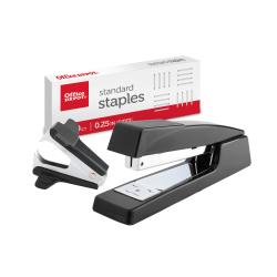 Office Depot® Brand Premium Full-Strip Stapler Combo With Staples And Remover, Black