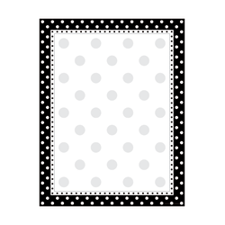 "Barker Creek Computer Paper, 8 1/2"" x 11"", Black-And-White Dot, Pack Of 50 Sheets"