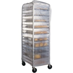 """Heritage HDPE Rack Covers, 60""""x 83"""", Natural, Case Of 50 Covers"""