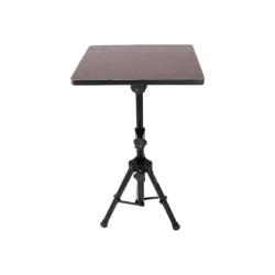 "PylePro PLPTS4 Pro DJ Notebook Tripod Adjustable Stand - 5"" Height x 16"" Width - Steel, Wood - Gloss Black"