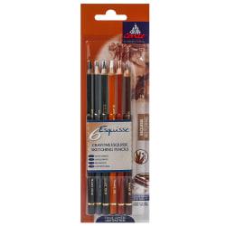 Conte Pencil Set, Sketching, Assorted Colors, Set Of 6 Pencils
