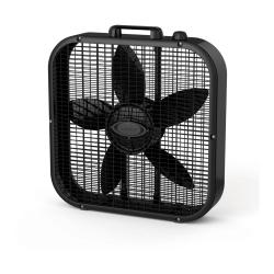 "Lasko® Dècor Colors 20"" 3-Speed Box Fan, 21.75""H x 4.25""W x 20.5""D, Black"