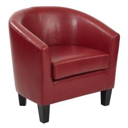 Ave Six Work Smart™ Ethan Tub Chair, Cranberry/Dark Espresso