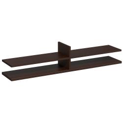 "Bush Business Furniture Components Elite Collection Standing Table Desk Shelf Kit, 60""W x 12 1/2""D, Mocha Cherry, Standard Delivery Services"
