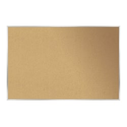 "Ghent Cork Bulletin Board, 36 1/2"" x 60 1/2"", Silver Aluminum Frame"
