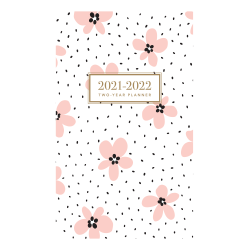 "Graphique 29-Month Academic Monthly Planner, 4"" x 6"", Pink Floral, August 2020 To December 2022"