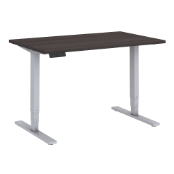 """Bush Business Furniture Move 80 Series 48""""W x 30""""D Height Adjustable Standing Desk, Storm Gray/Cool Gray Metallic, Standard Delivery"""