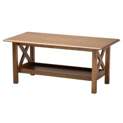 """Baxton Studio Coffee Table, 17-1/2""""H x 40-15/16""""W x 20-7/8""""D, Walnut Brown"""