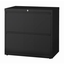 "WorkPro® 30""W Lateral 2-Drawer File Cabinet, Metal, Black"