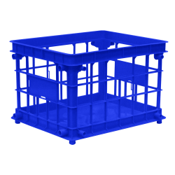 Office Depot® Brand Filing/Stacking Crate, Medium Size, Blue