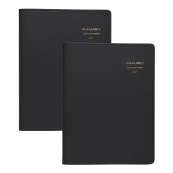 """AT-A-GLANCE® 8-Person Daily Appointment Book, 8-1/2"""" x 11"""", Black, January to December 2021, 7021271"""