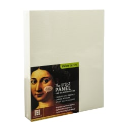 """Ampersand Artist Panel Canvas Texture Cradled Profile, 8"""" x 10"""", 1 1/2"""", Pack Of 2"""