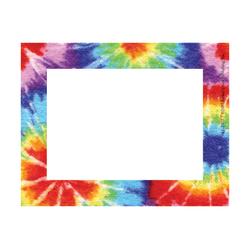 "Barker Creek Self-Adhesive Name Badge Labels, 3 1/2"" x 2 3/4"", Tie-Dye, Pack Of 45"