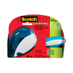 """Scotch® Sure Start Shipping Tape Dispenser, 1.5"""" Core, With 1 Roll Of Sure Start Tape"""