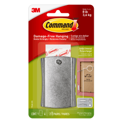 "Command™ Damage-Free Picture Hanging Sticky Nail, 5/8"" x 1 3/8"", White"
