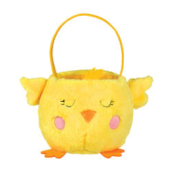 Amscan Plush Chick Easter Baskets, Medium Size, Set Of 2