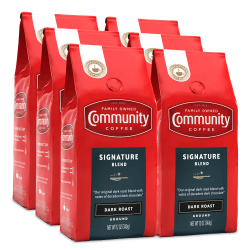 Community Coffee Arabica Ground Coffee, Signature Blend, 12 Oz, Carton Of 6 Bags